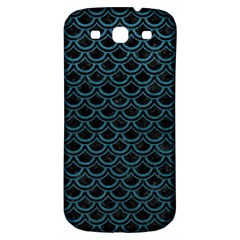 Scales2 Black Marble & Teal Leather (r) Samsung Galaxy S3 S Iii Classic Hardshell Back Case by trendistuff