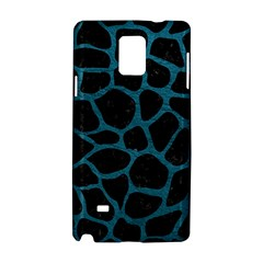 Skin1 Black Marble & Teal Leather Samsung Galaxy Note 4 Hardshell Case by trendistuff