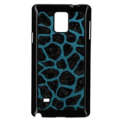 Skin1 Black Marble & Teal Leather Samsung Galaxy Note 4 Case (black) by trendistuff