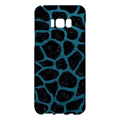 Skin1 Black Marble & Teal Leather Samsung Galaxy S8 Plus Hardshell Case  by trendistuff