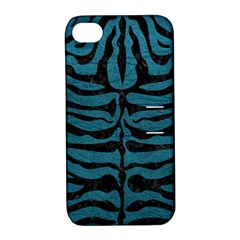 Skin2 Black Marble & Teal Leather Apple Iphone 4/4s Hardshell Case With Stand by trendistuff