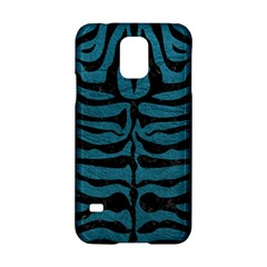Skin2 Black Marble & Teal Leather Samsung Galaxy S5 Hardshell Case  by trendistuff