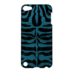 Skin2 Black Marble & Teal Leather (r) Apple Ipod Touch 5 Hardshell Case by trendistuff