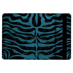 Skin2 Black Marble & Teal Leather (r) Ipad Air Flip by trendistuff