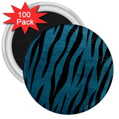 Skin3 Black Marble & Teal Leather 3  Magnets (100 Pack) by trendistuff