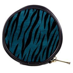 Skin3 Black Marble & Teal Leather Mini Makeup Bags by trendistuff
