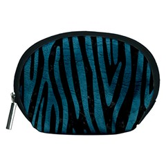 Skin4 Black Marble & Teal Leather Accessory Pouches (medium)