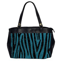 Skin4 Black Marble & Teal Leather (r) Office Handbags (2 Sides)  by trendistuff