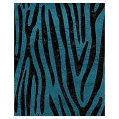 Skin4 Black Marble & Teal Leather (r) Drawstring Bag (small) by trendistuff