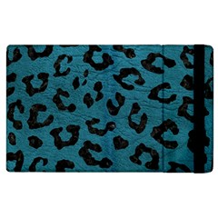 Skin5 Black Marble & Teal Leather (r) Apple Ipad 3/4 Flip Case by trendistuff