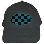 SQUARE1 BLACK MARBLE & TEAL LEATHER Black Cap