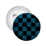 SQUARE1 BLACK MARBLE & TEAL LEATHER 2.25  Buttons