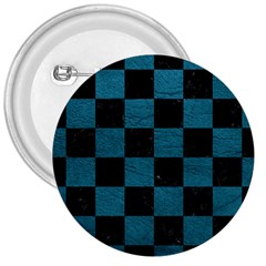 SQUARE1 BLACK MARBLE & TEAL LEATHER 3  Buttons