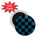 SQUARE1 BLACK MARBLE & TEAL LEATHER 1.75  Magnets (100 pack)