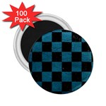 SQUARE1 BLACK MARBLE & TEAL LEATHER 2.25  Magnets (100 pack)