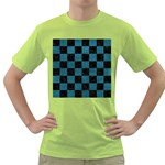 SQUARE1 BLACK MARBLE & TEAL LEATHER Green T-Shirt