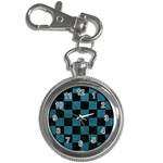 SQUARE1 BLACK MARBLE & TEAL LEATHER Key Chain Watches