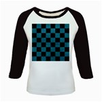 SQUARE1 BLACK MARBLE & TEAL LEATHER Kids Baseball Jerseys