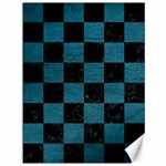 SQUARE1 BLACK MARBLE & TEAL LEATHER Canvas 36  x 48