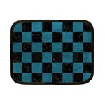 SQUARE1 BLACK MARBLE & TEAL LEATHER Netbook Case (Small)