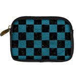 SQUARE1 BLACK MARBLE & TEAL LEATHER Digital Camera Cases