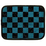 SQUARE1 BLACK MARBLE & TEAL LEATHER Netbook Case (XL)