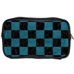 SQUARE1 BLACK MARBLE & TEAL LEATHER Toiletries Bags