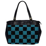 SQUARE1 BLACK MARBLE & TEAL LEATHER Office Handbags (2 Sides)
