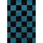 SQUARE1 BLACK MARBLE & TEAL LEATHER 5.5  x 8.5  Notebooks