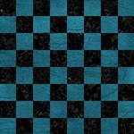 SQUARE1 BLACK MARBLE & TEAL LEATHER Magic Photo Cubes