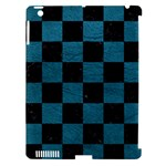 SQUARE1 BLACK MARBLE & TEAL LEATHER Apple iPad 3/4 Hardshell Case (Compatible with Smart Cover)