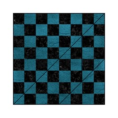 SQUARE1 BLACK MARBLE & TEAL LEATHER Acrylic Tangram Puzzle (6  x 6 )