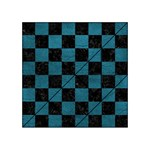 SQUARE1 BLACK MARBLE & TEAL LEATHER Acrylic Tangram Puzzle (4  x 4 )