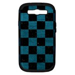 SQUARE1 BLACK MARBLE & TEAL LEATHER Samsung Galaxy S III Hardshell Case (PC+Silicone)