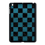 SQUARE1 BLACK MARBLE & TEAL LEATHER Apple iPad Mini Case (Black)