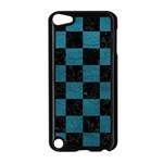 SQUARE1 BLACK MARBLE & TEAL LEATHER Apple iPod Touch 5 Case (Black)