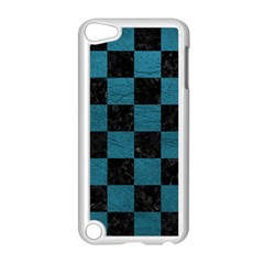 Square1 Black Marble & Teal Leather Apple Ipod Touch 5 Case (white) by trendistuff