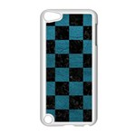 SQUARE1 BLACK MARBLE & TEAL LEATHER Apple iPod Touch 5 Case (White)