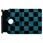 SQUARE1 BLACK MARBLE & TEAL LEATHER Apple iPad 3/4 Flip 360 Case