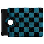 SQUARE1 BLACK MARBLE & TEAL LEATHER Kindle Fire HD 7