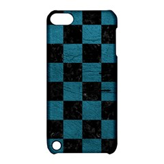 SQUARE1 BLACK MARBLE & TEAL LEATHER Apple iPod Touch 5 Hardshell Case with Stand