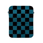 SQUARE1 BLACK MARBLE & TEAL LEATHER Apple iPad 2/3/4 Protective Soft Cases