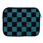 SQUARE1 BLACK MARBLE & TEAL LEATHER Apple iPad 2/3/4 Zipper Cases