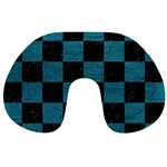 SQUARE1 BLACK MARBLE & TEAL LEATHER Travel Neck Pillows