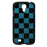 SQUARE1 BLACK MARBLE & TEAL LEATHER Samsung Galaxy S4 I9500/ I9505 Case (Black)