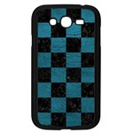 SQUARE1 BLACK MARBLE & TEAL LEATHER Samsung Galaxy Grand DUOS I9082 Case (Black)