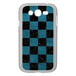 SQUARE1 BLACK MARBLE & TEAL LEATHER Samsung Galaxy Grand DUOS I9082 Case (White)
