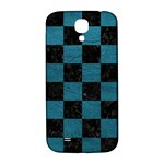 SQUARE1 BLACK MARBLE & TEAL LEATHER Samsung Galaxy S4 I9500/I9505  Hardshell Back Case