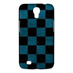 SQUARE1 BLACK MARBLE & TEAL LEATHER Samsung Galaxy Mega 6.3  I9200 Hardshell Case