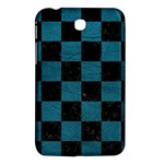 SQUARE1 BLACK MARBLE & TEAL LEATHER Samsung Galaxy Tab 3 (7 ) P3200 Hardshell Case